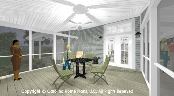 SG-676 3D Screened Porch to Dining