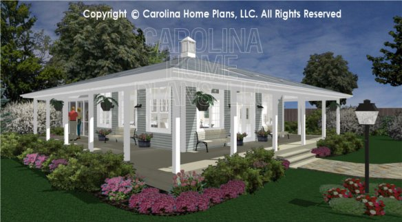 3d images for chp sg 676 ams tiny country cottage 3d for Small cabin floor plans wrap around porch