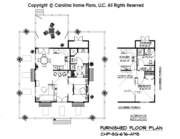 SG-676-AMS Furnished Main Floor Plan