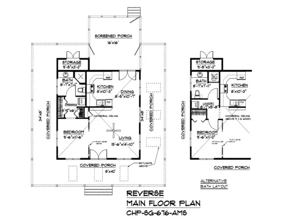 SG-676 Reverse Main Floor Plan