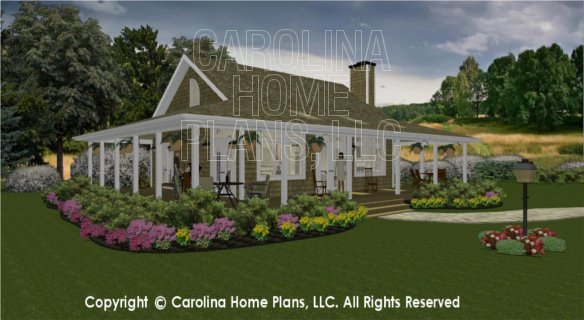 3d images for chp sg 947 ams small country guest cottage for Carolina cottage house plans