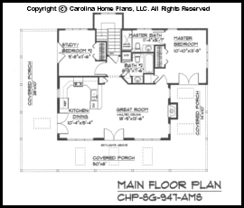 sg 947 main floor plan - Small Cottage 2