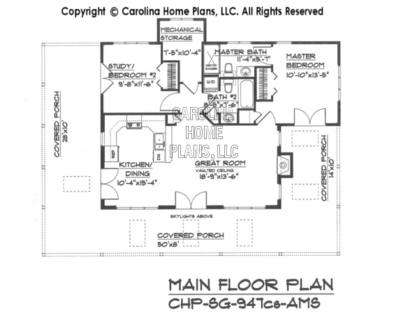 Small country guest cottage house plan sg 947 ams sq ft for Cottage house plans under 1000 sq ft