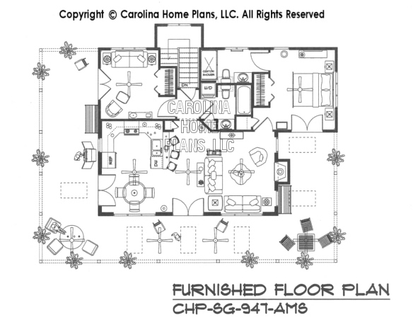 SG-947-AA Furnished Main Floor Plan