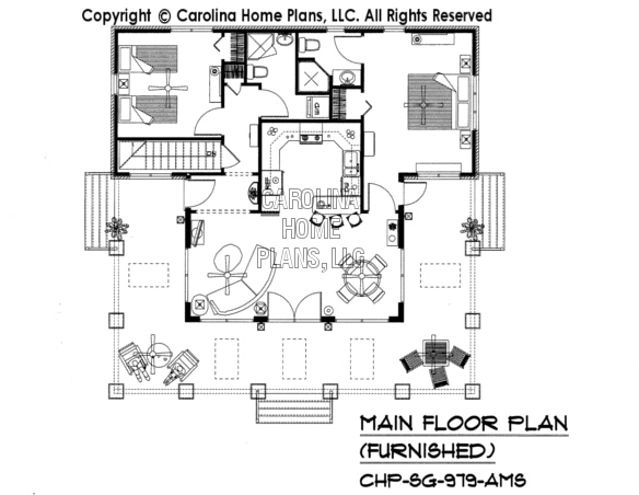 SG-979-AMS Furnished Main Floor Plan