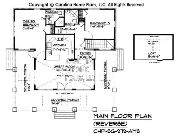 SG-979 Reverse Main Floor Plan