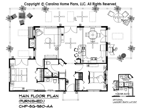 3d images for chp sg 980 aa small contemporary cottage for Carolina home plans