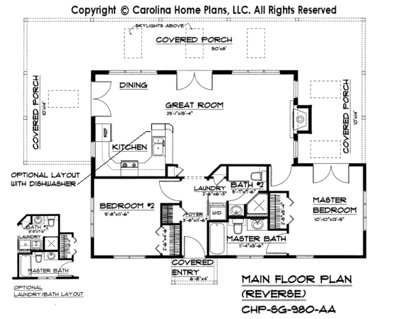 Small contemporary cottage house plan sg 980 sq ft for Cottage house plans under 1000 sq ft