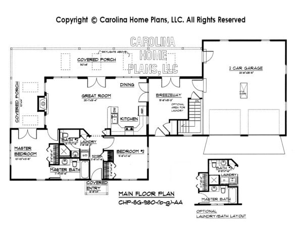 SG-980 Floor Plan-Basement, Garage