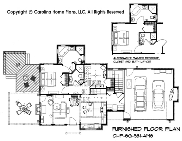 SG-981-AMS Furnished Main Floor Plan