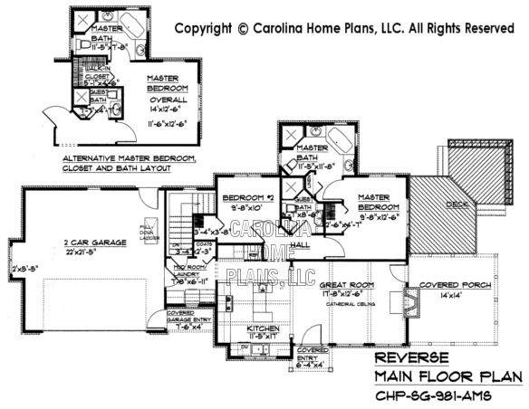 SG-981 Reverse Main Floor Plan