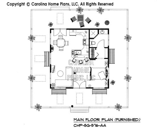 SG-576-AA Furnished Main Floor Plan